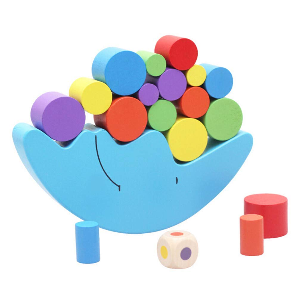 F_Gotal Toys for Boys Girls Clearace - Baby Kids Toddler Educational Toys Wooden Moon of Balance Column Building Block Puzzle Learning Toys for Kids Child Adults Gifts