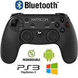 Matricom G-Pad XYBA Wireless Rechargeable Bluetooth Pro Game Pad Joystick Controller (Samsung Gear VR, PC, PS3, and G-Box Compatible!)