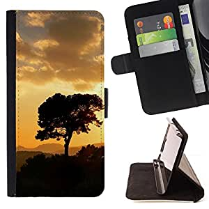 For HTC One M9,S-type Puesta de sol Beautiful Nature 5- Dibujo PU billetera de cuero Funda Case Caso de la piel de la bolsa protectora