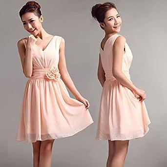 db1ac45b83c Lemandy Robe courte mousseline robe demoiselle d honneur (40
