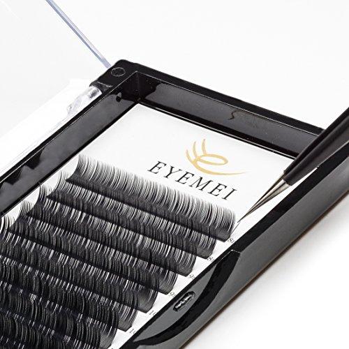 C Curl Eyelash Extensions 0.15mm Eyelash Extensions Faux Mink Eyelash Extensions Fake Lash Extensions Individual 8-14mm Mixed Tray Salon Perfect Use by (Eyelash Extension Lashes)
