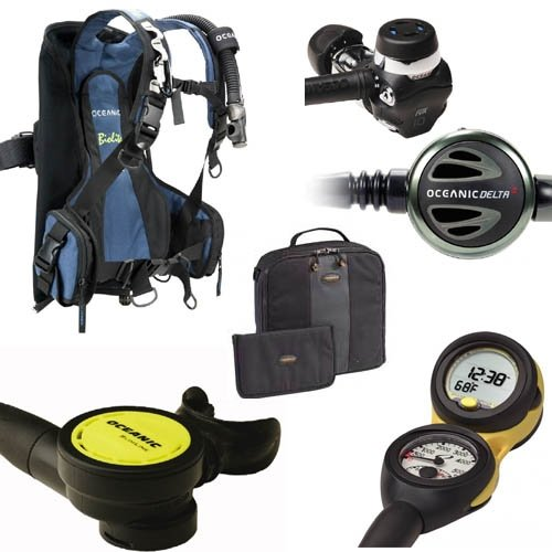 Oceanic Biolite Men's Travel BCD/Regulator Scuba Gear Package