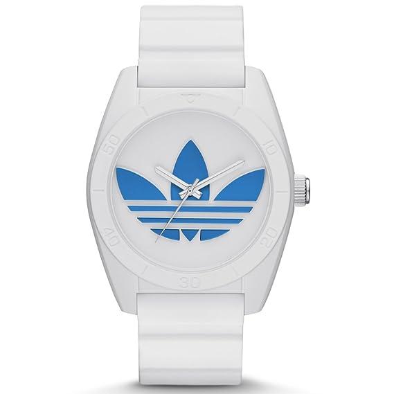 adidas Santiago adh2921 Reloj Hombre Reloj Caucho plástico 5 Bar Analog Color Blanco