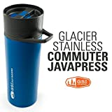 GSI Outdoors – Glacier Stainless Commuter JavaPress, French Press Coffee Mug, Blue, Superior Backcountry Cookware Since 1985 Review