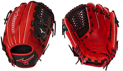 - Mizuno GMVP1177SE4 MVP Prime SE Gloves, Red/Black, Right Hand Throw