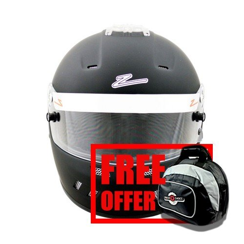 Zamp RZ-58 Snell SA2015 Helmet Matte Black Large - Free Deluxe Helmet Bag Included RaceChoice