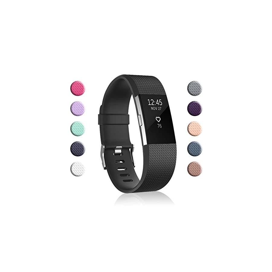 Fundro Compatible for Fitbit Charge 2 Bands, Classic & Special Edition Replacement Bands for Fitbit Charge 2, Large Small