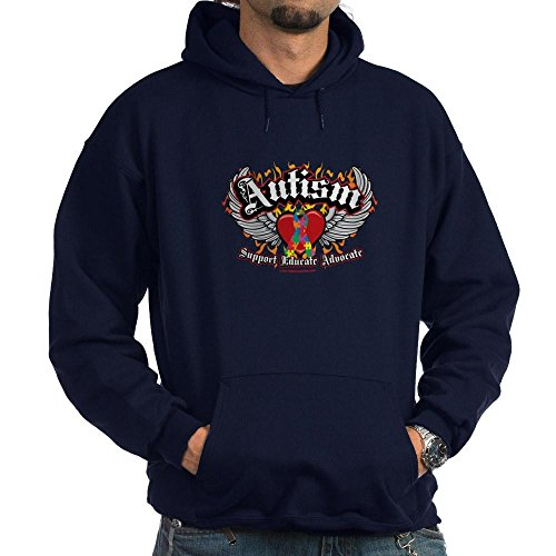 CafePress Autism Wings Hoodie (Dark) Pullover Hoodie, Classic & Comfortable Hooded Sweatshirt Navy ()