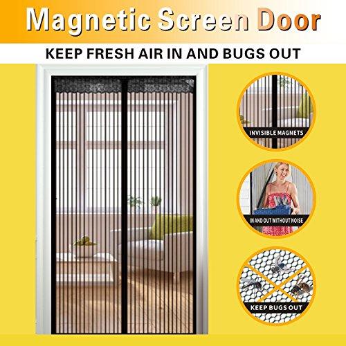 Magnetic Screen Door,Full Frame Velcro and Dacron Heavy Duty Mesh