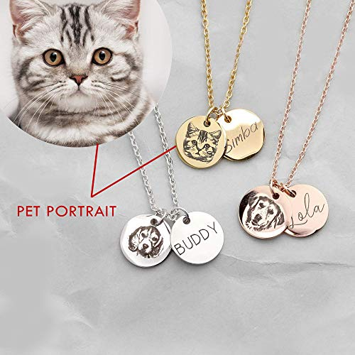 - Pet Memorial Jewelry Custom Pet Necklace Animal Lover Dog Cat Lover Gift for Her Personalized Gift Necklace - CN-AP