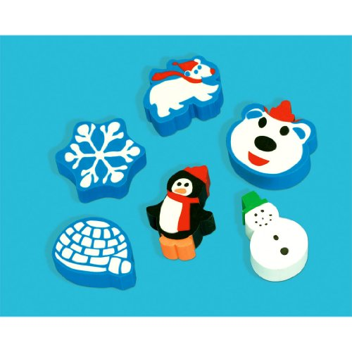 Amscan Festive Christmas Eraser Multicolor product image