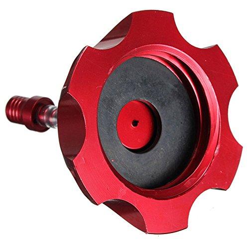 Bouchon de reservoir SODIAL 48mm CNC bouchon reservoir de carburant vanne de purge CAP minimoto Quad 90cc a 125cc rouge R