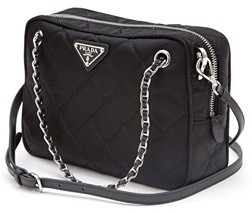 0c34859f2200 Prada Tessuto Impuntu Quilted Nylon Shoulder Chain Handbag BL0910 ...