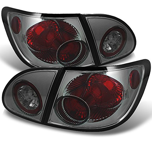 For 2003-2008 Toyota Corolla Smoked Altezza Tail Lights Rear Brake Lamp w/Trunk Piece (Toyota Altezza)