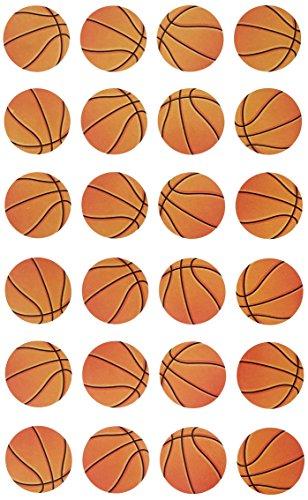 Darice Stickerz, 24 pegatinas de baloncesto, como se muestra, talla única