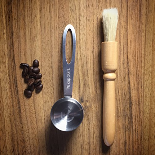 BEST Coffee Grinder Brush and Scoop by Coffee Gator. Premium Quality by Coffee Gator (Image #5)