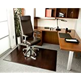 Bamboo Deluxe Roll-Up Chairmat, 60   x 48  , no lip