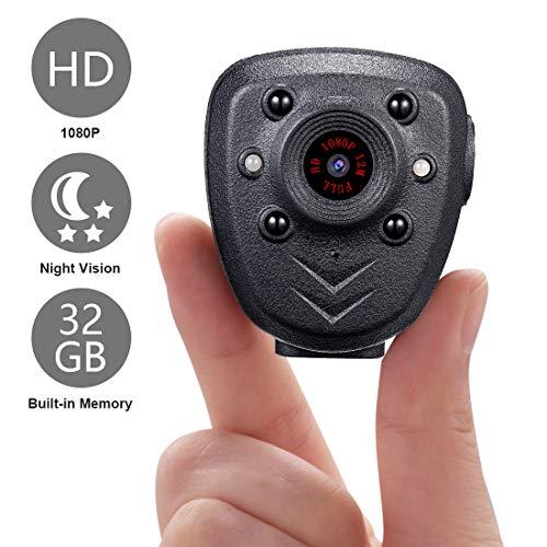 🥇 Mini Body Camera HD1080P Video Recorder Built-in 32GB Memory Card