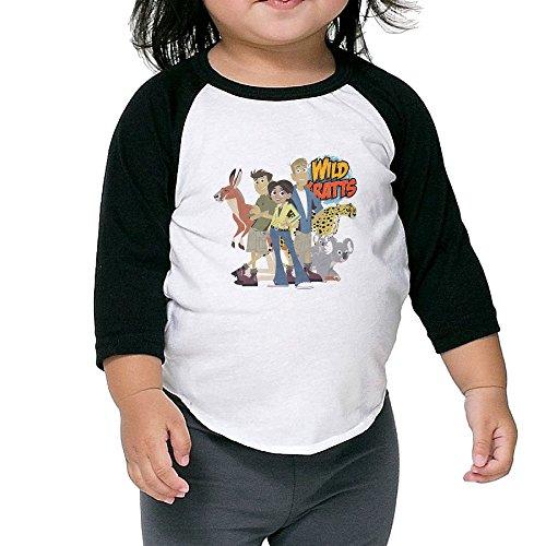 Justin Bieber Power Ranger Costume (Caromn Kids Child Wild Kratts Baseball Jersey T-Shirt 2 Toddler)