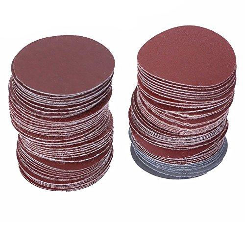 WOVELOT Paquet de 100 Disque de poncage de broyage abrasif 240 disques abrasifs 2 pouces 50mm