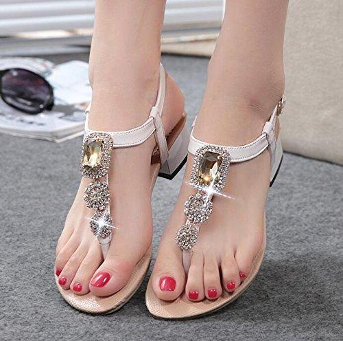 Blanc Diamant mode de femmes sandales qwISwp