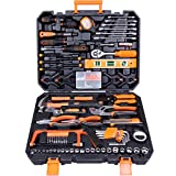 CARTMAN Tool Set 168Pcs Orange, General Household Hand Tool Kit with Plastic Toolbox, Electrician's Tools in Storage Case: more info