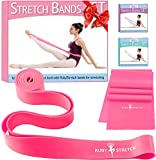 RubyStretch Set of 2 Stretch Bands Exercise Kids & Adults + Gift Box - Stretching Bands Ballet, Dance, Gymnastics Flexibility