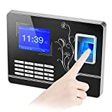 ZYG.GG Biometric Fingerprint Password Time Attendance Machine 2.8 Inch TFT Screen Employee Checking-in Recorder Reader Time Clock Support