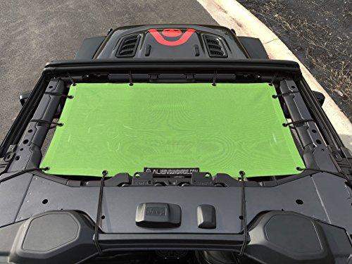 ALIEN SUNSHADE Jeep Wrangler JL Front Sunshade Mesh Top for 2018+ Jeep Wrangler 2- door or 4-door JL and JLU Unlimited (Green)