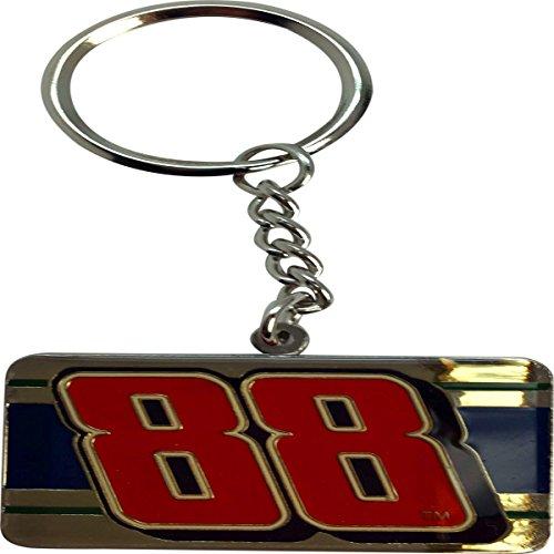 Winners Circle Dale Earnhardt Jr #88 Stamped Metal Keychain ()