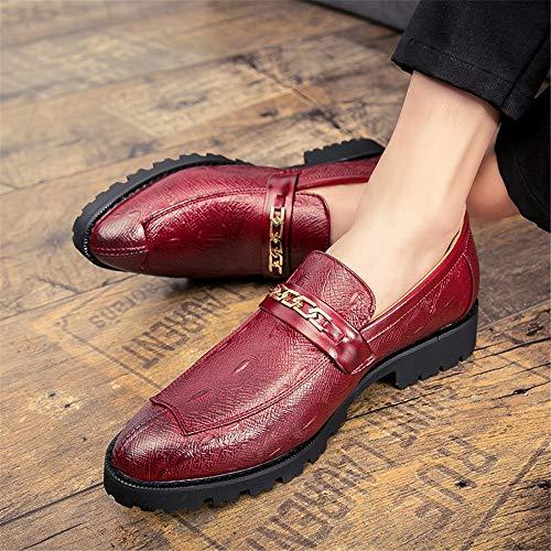Chaussures En Oxford Shuo Métal Décoration Décontracté Lan 43 Boucle Hommes color Taille Rouge De Cricket Confortable Pour Rouge Eu chaussures Formelles YwPACwq