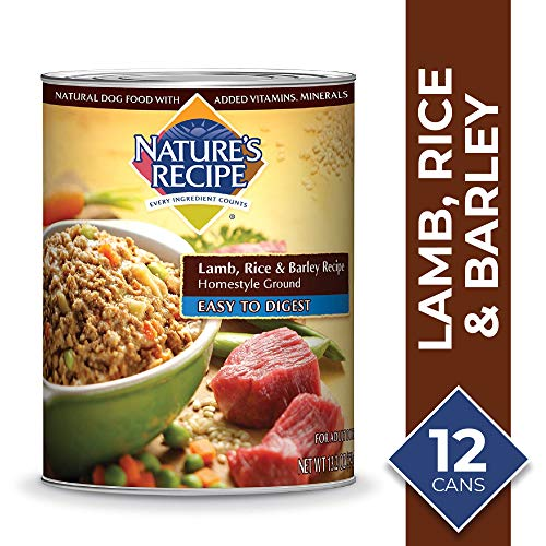 Nature's Recipe Lamb, Rice & Barley Recipe Wet Dog Food, 13.2 Ounces (Pack of 12), Easy to Digest Homestyle Ground