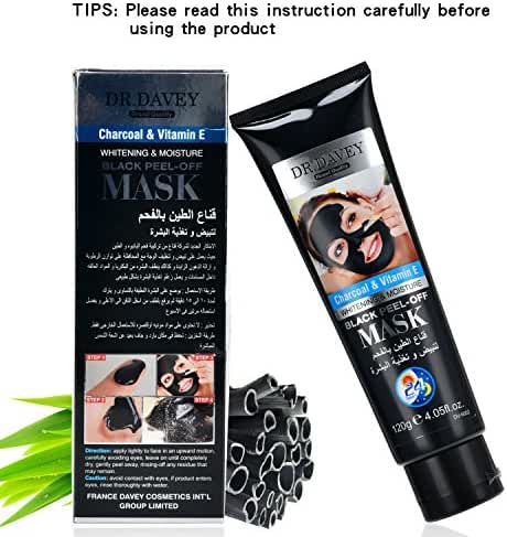 DR.DAVEY Blackhead Remover Mask Black Facial Clean Bamboo Charcoal Peel off Mud Strip mask