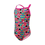 TYR Girls Love Bird Diamondfit Swimming One Piece, Pink Multi, Medium