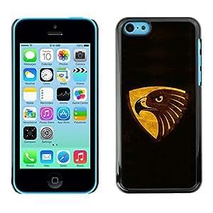 NUMO Slim Sleek Case Cover Armor Polycarbonate Aluminium / cool black brown gol eagle / Apple Iphone 5C