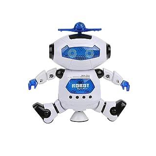 Febelle Dancing robot giocattolo per bambini, Electronic Walking spinning, braccia e gambe circolazione per i più piccoli con luci lampeggianti e musica da ballo, tuta per 3anni.