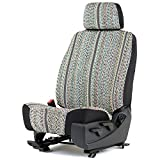 Outlaw Products Gray Saddleblanket Low Back Bucket Seat Cover W/Headrest Cover