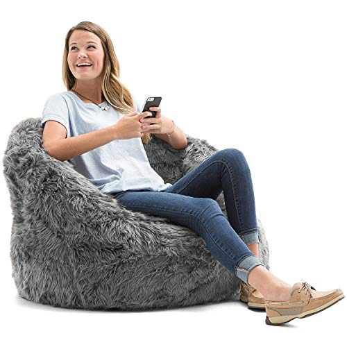 Bean Chair Gray Bag (Big Joe Lux Milano in Shag, Grey)