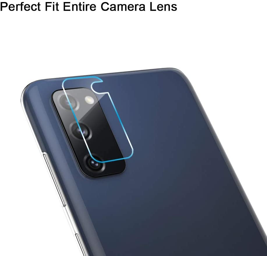 MP-MALL 2 Pack Tempered Glass Screen Protector 2 Pack Camera Lens Protector for Samsung Galaxy S20 FE 5G // Galaxy S20 Fan Edition 6.5-inch 4 Pack 9H Hardness Scratch-Resistant
