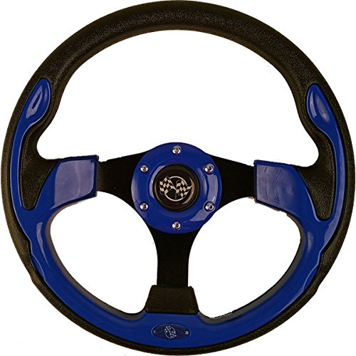 Nivel Our Part # 56912//56707 12.5 Blue Steering Wheel with Black Adapter for Ezgo 1994-up TXT /& RXV Lower 48 US States ONLY!