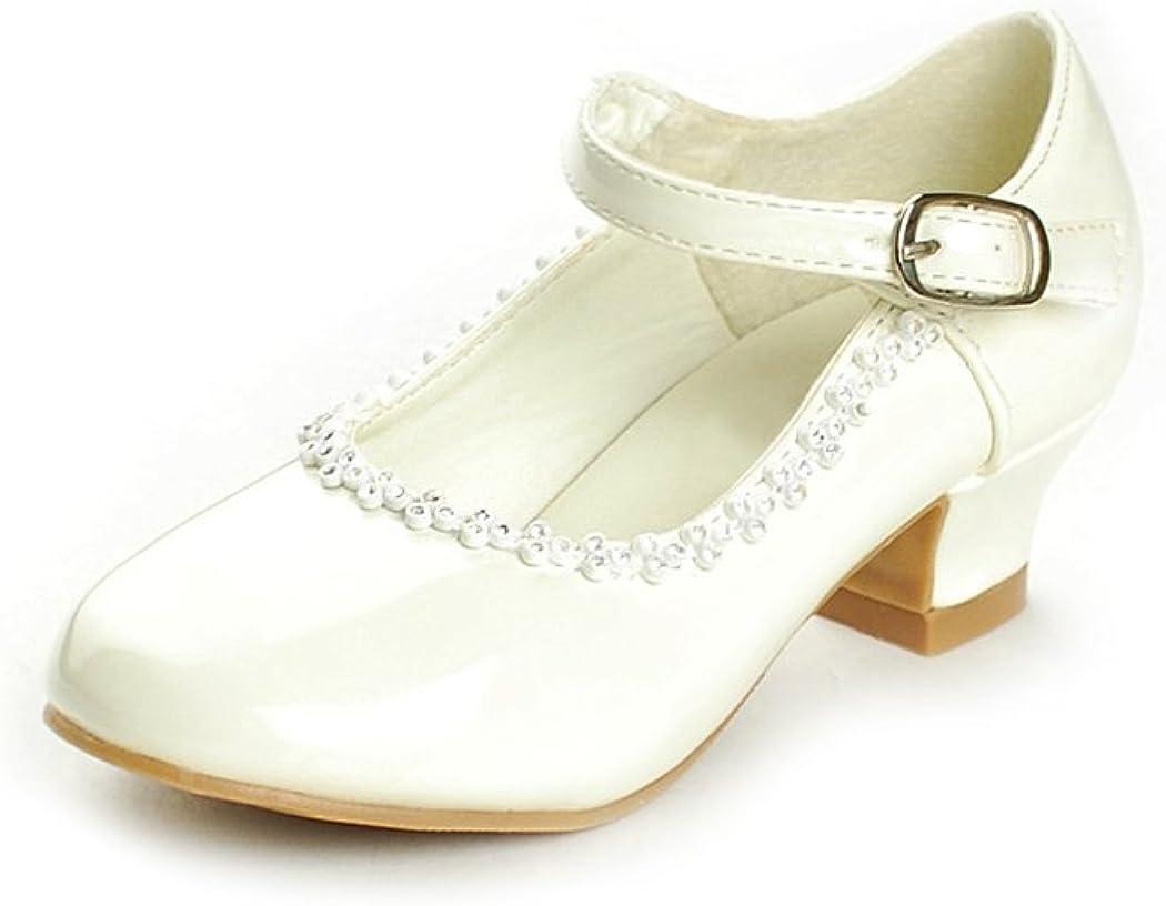 DressForLess Rhinestone Detailed Patent Flower Girl Shoes