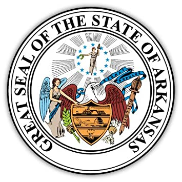 amazon com arkansas state seal sticker decal 4 x 4 other