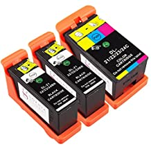 Sophia Global Compatible Ink Cartridge Replacement for Dell 23 (2-Black, 1-Color)