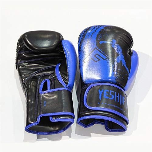 HAOXIONGMAOYI UK Unisex Boxing Gloves Training Gloves Unblock Fight Muay Thai Boxing Gloves Gloves (Color : Blue, Size : 12oz)