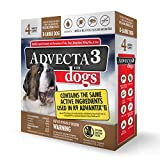 Advecta 3 Flea and Tick Topical Treatment, Flea and Tick Control for Dogs, X-Large over 50lbs, 4...