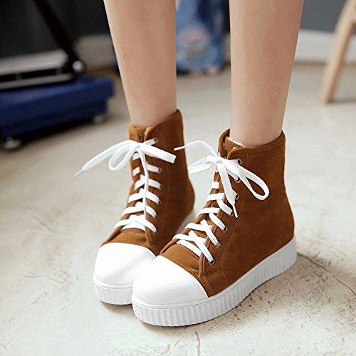 Latasa Scarpe Da Donna Basse Invernali Invernali Allacciate Ankle Oxford Boots Giallo Scuro (colore Principale)