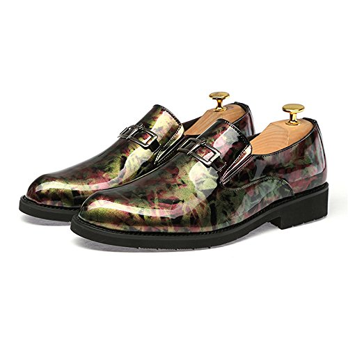 On da passeggio Fashion Nuovo lavoro Shoes Casual colore Slip antiruggine Formal in Calzature metallo Mens Leather Trend abbinato a Rosso bottoni Ofgcfbvxd da Mocassini leggere Oxford qYpt1SxS
