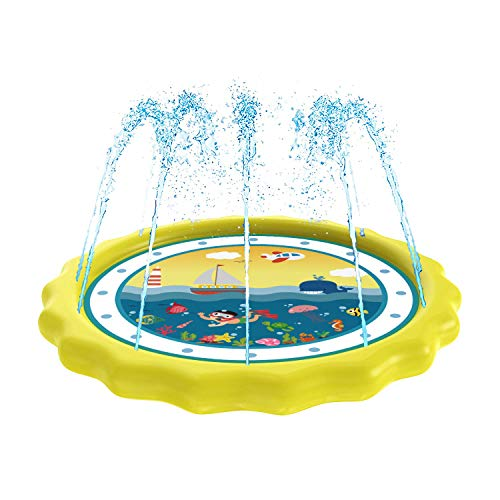 HITOP Sprinkler for Kids, Splash Pad & Baby Pool 3-in-1 60