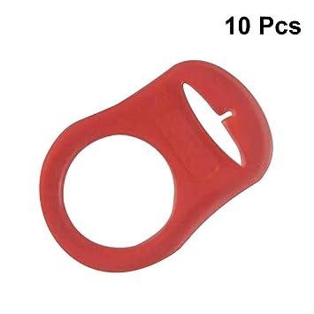 Artibetter - 10 clips de cinta para chupete, chupete y chupete ...