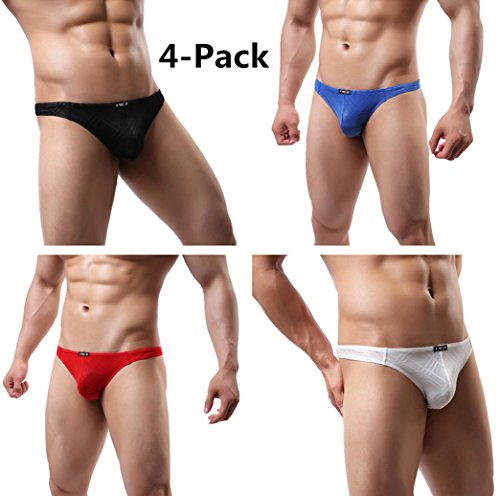 930d13f5acf JIMEIB3JI Men s Sexy Lace Underwear Modern Thong   G-String Low Rise T-Back